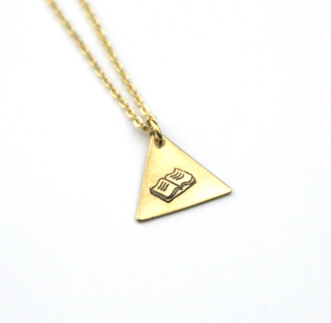 Book - Brass Stamped Necklace