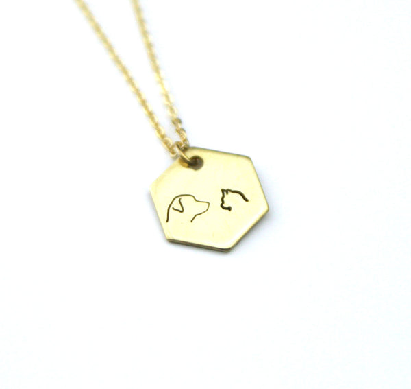 Best Friends - Brass Stamped Necklace