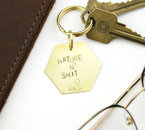 Nature & Shit - Stamped Keychain