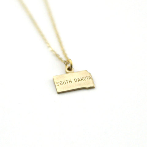South Dakota - State Name Necklace