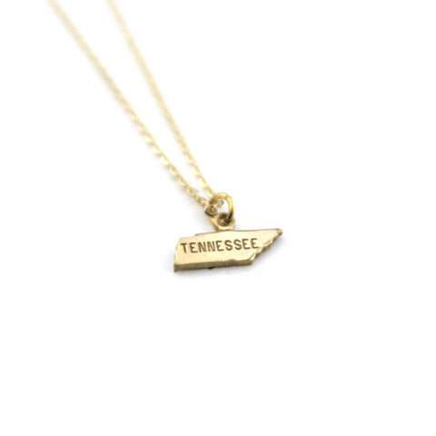 Tennessee - State Name Necklace