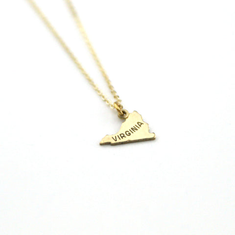 Virginia - State Name Necklace