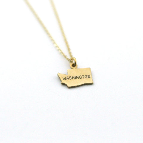 Washington - State Name Necklace