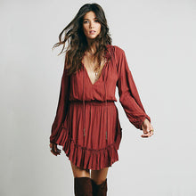 Hollow Out Boho Dress