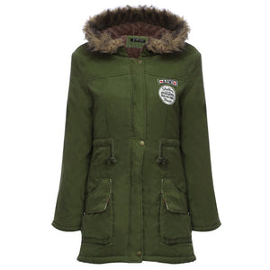 Fur Hooded Down Army Coat