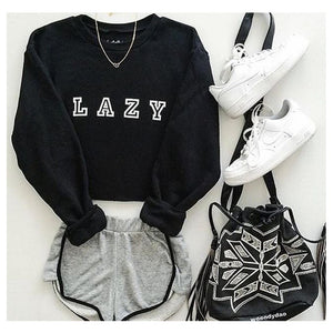 Lazy Crew Neck Sweatshirt