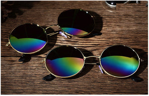 Retro Round Mirrored Sunglasses