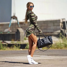 Camouflage hooded dress
