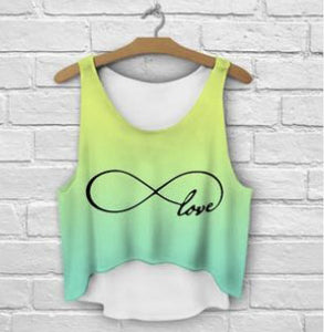 Infiniti Love Crop top