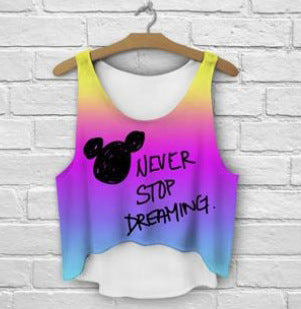 Disney Never stop dreaming crop top