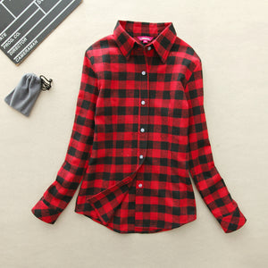 Fall slim fit Plaid Shirt