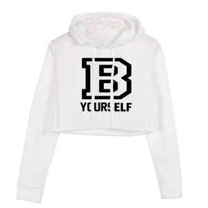 B YOURSELF Pullover Hoodie Crop Top
