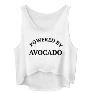 POWERD BY AVOCADO Crop top