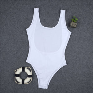 White 95% Cotton Swimsuit