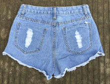 High Waisted Shorts Shredded Distressed Cutoffs