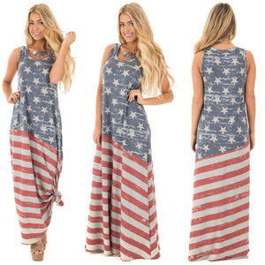 Distressed American Flag dress