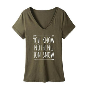 YOU KNOW NOTHING JON SNOW V-neck
