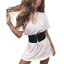Camouflage White Dress with Belt