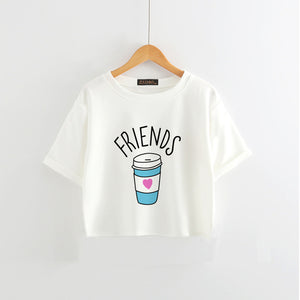 BEST FRIENDS Cropped shirts