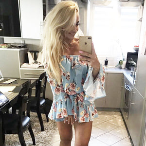 Floral off the shoulder Summer Party Dress
