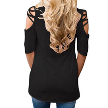 V neck Off shoulder Flare Sleeve