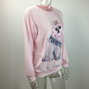 Purrfect Princess Cat Sweatshirt