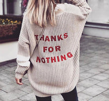 Thanks for Nothing - Knit Cardigan