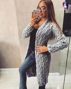 Long Sleeve knitted Sweater Cardigan