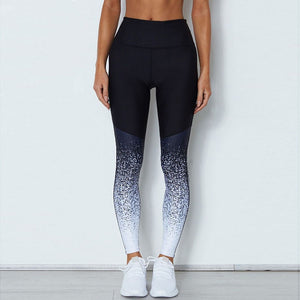 Black and white Gradient workout Leggings