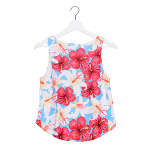 Fresh Hibiscus Crop Top