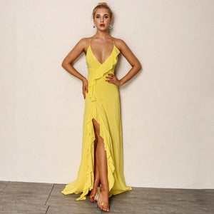 Summer V Neck Maxi Dress
