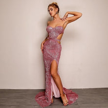 Hollow Out Sequin Dress