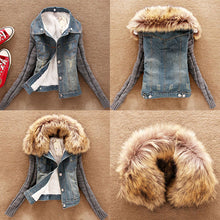 Faux Fur neck lined Jean Jacket