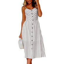 Grey Zig Zag Long Buttoned Sundress