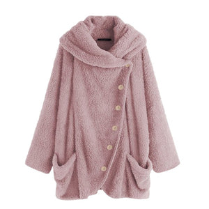 Fluffy Hooded Loose jacket