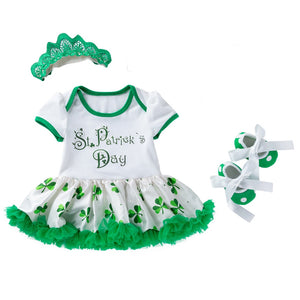 3pcs St Patrick Day Toddler Clothing