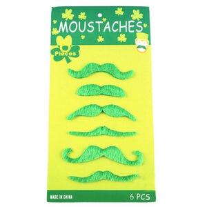 St Patties Day - Green Mustache set