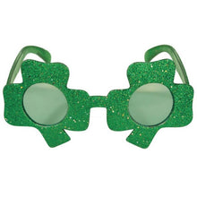 Shamrock shaped St. Patricks Day Sunglasses