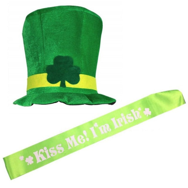 St Patricks day Leprechaun hat and sash