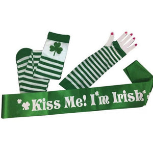 St Patrick's Day gloves, socks and sash