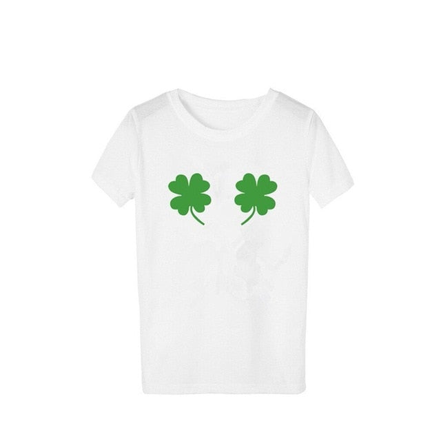 Two clover tee - St patricks day shirt