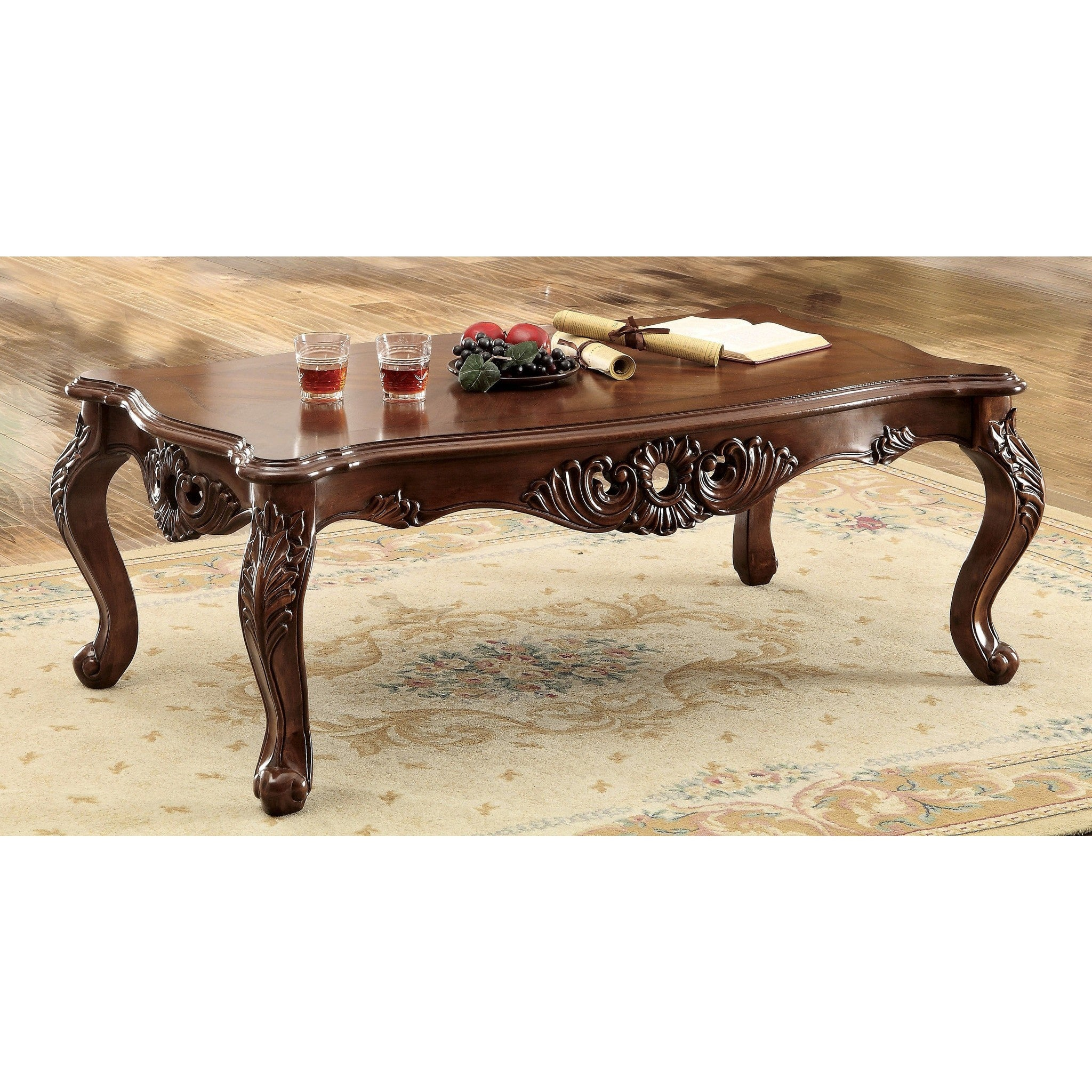 Picture of: Deiko Traditional Style Carbriole Leg Coffee Table In Dark Oak Coffee Table Direct