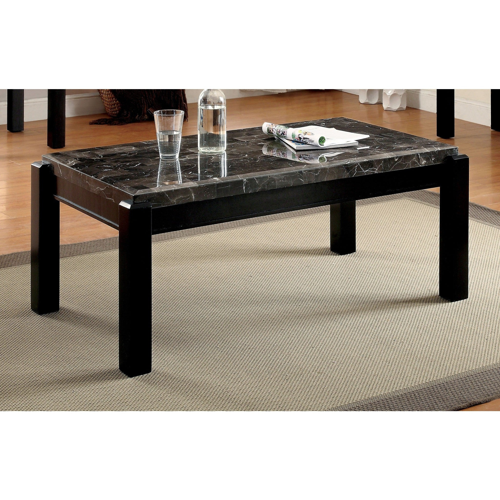 Astounding Micco Contemporary Style Faux Marble Coffee Table In Gray Ncnpc Chair Design For Home Ncnpcorg