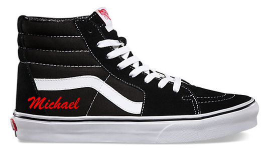 Name Decal on Vans High Top