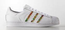 Mosaic Stripes on Adidas Superstar Sneaker