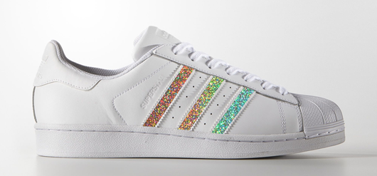 Glitter Stripes on Adidas Superstar Sneaker