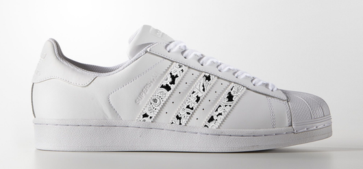 Lace Stripes on Adidas Superstar Sneaker