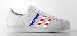 USA Stripes on Adidas Superstar Sneaker