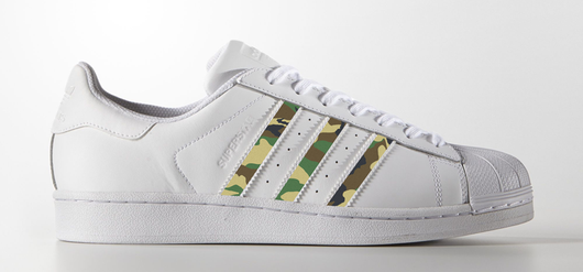 Woodland Camo Decal on Adidas Superstar Sneaker