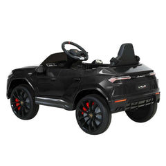 12V Electric Kids Ride On Toy Car Licensed Lamborghini URUS Remote Control Black - Kids Decor Factory